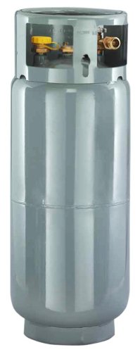 - Worthington 282098 43-Pound Steel Forklift Cylinder With Gauge And Fill Valve