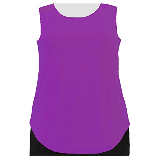 A Personal Touch Women's Plus Size Magenta Round Scoop Neck Knit Tank Top - 6X