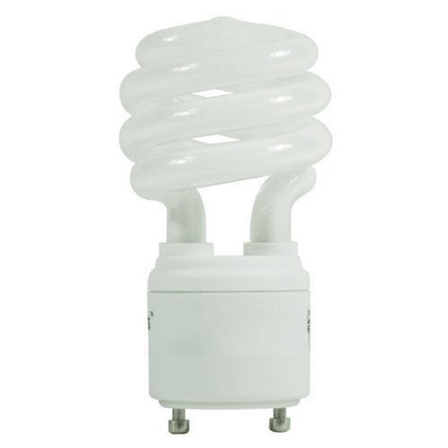 Satco S8202 - 11 Watt CFL Light Bulb - Compact Fluorescent - 40 W Equal - 2700K Warm White - - GU24 Base (11w Spiral)