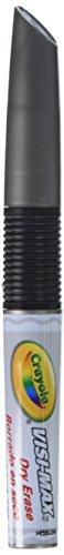 Crayola Dry Erase Board Markers, Visi-Max, Chisel Tip, 12, Black (CYO986012A051)