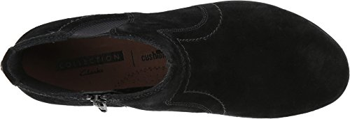Clarks Womens Everlay Leigh Black Suede Boot