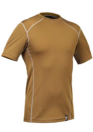 - P1G-TAC Military Tactical Athletic Workout Moisture Wicking Crew T-Shirt PCTT-Delta (Punisher line, Polartec Delta) (Coyote Brown, X-Large)