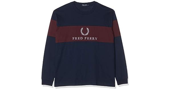 Fred Perry M5510-CONTRAST Panel T-SHIRT-A55-XL Camiseta de Manga ...