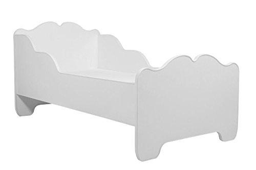 Lettino per bambini da letto per bambini modello ANNA BIANCO dimensione 140x70 con un materasso KOBI