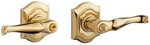 Bethpage Keyed Entry Lever (Baldwin 5237.003.LENT Bethpage Lever Keyed Entry Set, Lifetime Polished Brass)
