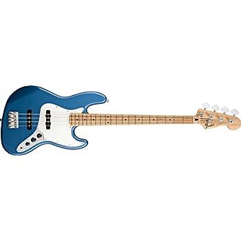 Fender Standard Jazz Electric Bass Guitar - Maple Fingerboard, Lake Placid Blue