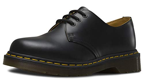 Dr. Martens - 1461 3-Eye Leather Oxford Shoe for Men and Women, Black Smooth, 11 US Women/10 US Men (Crap Eye Wear)