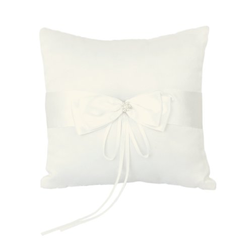 Ivory Faux Pearl Flower Wedding Party Ring Pillow Cushion by TOOGOO(R) (Ivory Pearl Ring)