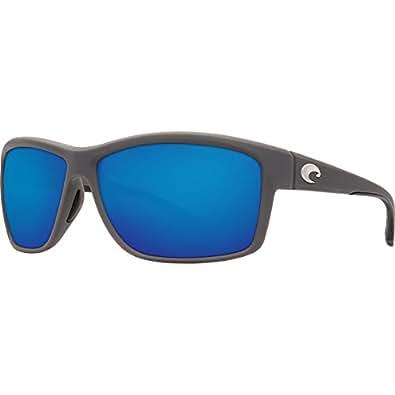 Costa Del Mar Mag Bay Sunglasses, Matte Gray, Blue Mirror 580G Lens