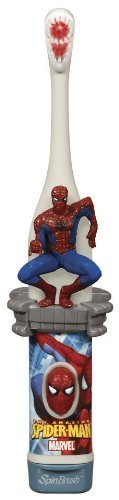 Spinbrush For Kids Battery Powered Toothbrush, Spiderman by Spinbrush