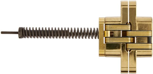 SOSS 216IC Zinc Invisible Spring Closer for 1.375'' Doors, Bright Brass Exterior Finish by SOSS