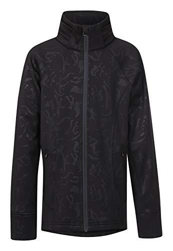 Kerrits Kids Flex Fleece Jacket Black Embossed Horse Size: Small