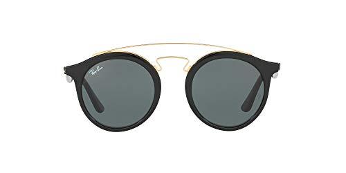 Ray-Ban RB4256 Round Sunglasses, Black/Green, 49 mm