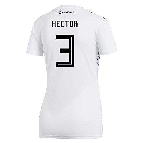 こどもの日ひまわり省略するadidas Women's HECTOR # 3 Germany Home Soccer Stadium Jersey World Cup Russia 2018 / サッカーユニフォーム ドイツ ホーム用 ヘクター # 3 レディース向け