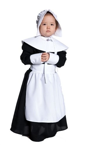 Children's Pilgrim Girl Costume M (2)