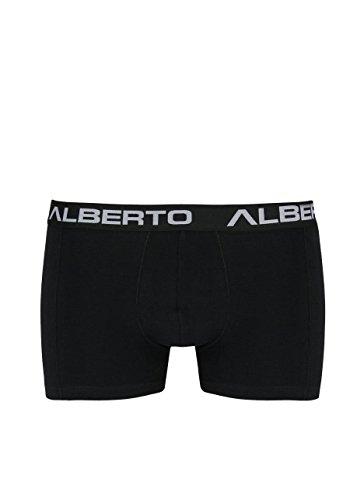 ALBERTO Pants mit Gummibund und Teilungsnaht Hero schwarz