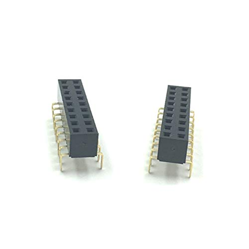 (Gimax 2.54mm Double Row Female centipede feet pins Breakaway PCB Board Pin Header socket Connector Pinheader 25/10/40Pin For Arduino - (Pins: 2x10P)