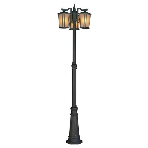 Artcraft Lighting Hampton 3-Light Outdoor Light Fixture, Oil Rubbed Bronze