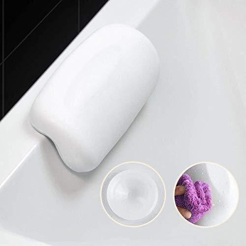 1 pi/èce Szblk Bain oreiller avec Antiderapant Ventouse Luxury Spa Baignoire Oreiller Coussin imperm/éable de bain for la t/ête et du cou