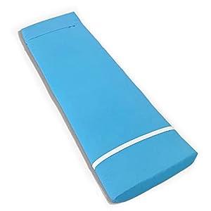 Tesosy Cojín Tumbona Liso Azul Claro 180 x 55 x 8 cm, Colchoneta para Tumbona, Colchón Tumbona Acolchada, Cojín para Tumbonas de Exterior para Jardin y Playa