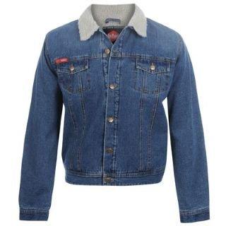 Lee Cooper Sherpa Denim Jacket Mens Indigo Medium Amazon.co.uk Clothing
