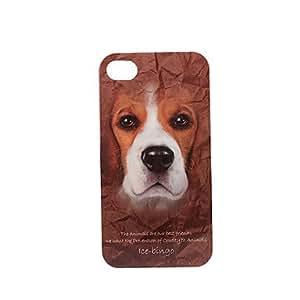 Caso duro de la serie de los animales boston terrier patrón de plástico para el iphone 4/4s