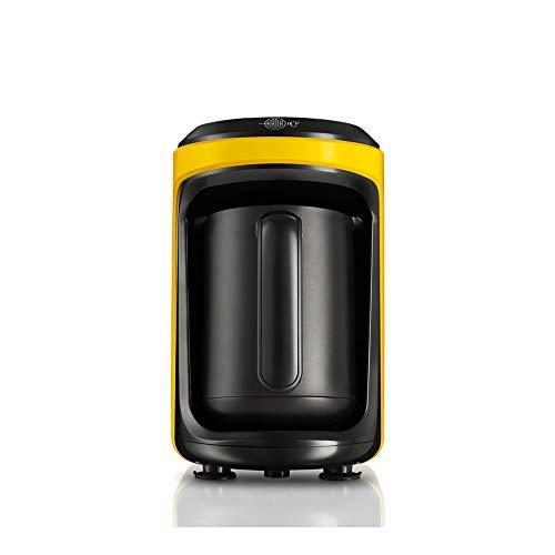Karaca – Hatir Hup Cafetera turca, color amarillo, para 5 personas, 535 W, cafetera automática, cafetera eléctrica…