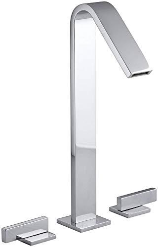 KOHLER K-14662-4-CP Loure Tall Widespread Bathroom Sink Faucet, Polished Chrome