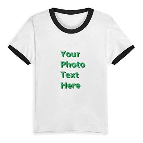 boy/Girl t-Shirts Create Your Own Personalized Cute Custom Cotton T-Shirts(Black 4T)