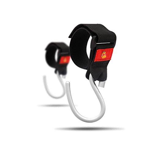 Stroller Hooks(2 Pack) Adjustable Stroller Hanger Clip Universal Handy Hook for Strollers/Walkers Aluminum-Black by XIAOYANGCHUN