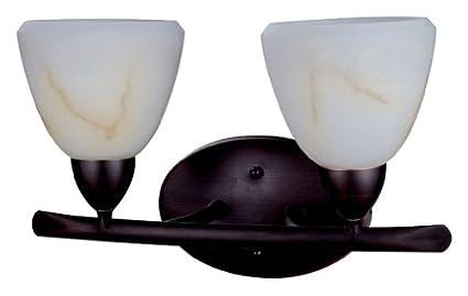 DVI DVP2022ORB-OP 2 Light Longbow Down Bathroom Light