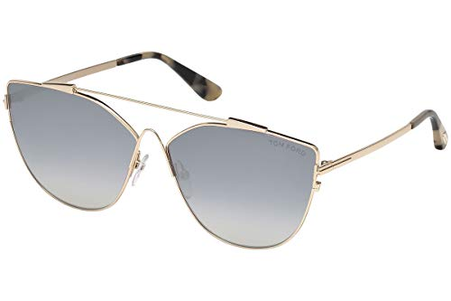 Tom Ford FT0563 28C Shiny Rose Gold Jacquelyn Cats Eyes Sunglasses Lens ()
