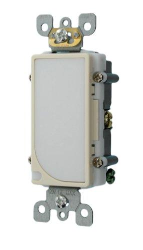 Leviton 6527-T 120V AC Decora LED Full Guide Light, Light Almond