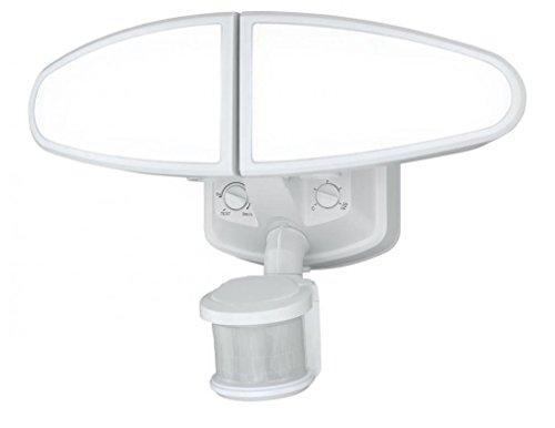 Vaxcel T0173 Kappa Smart Lighting Adjustable Low Level LED Motion Sensor Security Light, White Finish