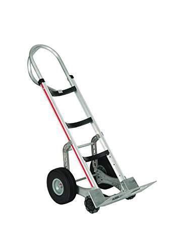 Magliner-HRK55AUA42-Self-Stabilizing-Hand-Truck-Vertical-Loop-Handle-4-Ply-Pneumatic-Wheels-Curved-Back-Frame-500-lb-Capacity