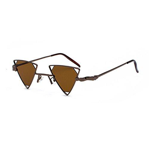 C1 Frauen Sonnenbrille KXLEB Gelb Rot Retro Rosa Dreieck Schwarz C4 Sonnenbrille Los Männer Vintage Tonos Metallrahmen qwxpwagC