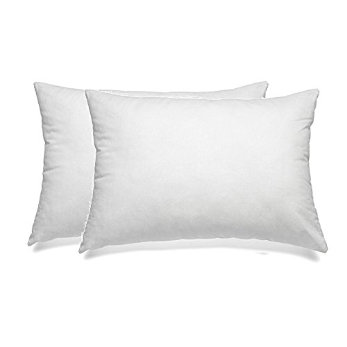 Queen Pillows 2 Pack - Fine Microfiber Fabric Filled with Premium Super Plush, Soft and Fluffy Poly Fiber Fill - Hypoallergenic, Dust Mite Resistant - 100% Satisfaction Guarantee - Crafted in USA