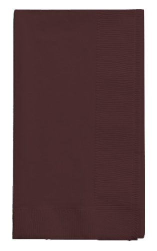 "Creative Converting Touch of Color 50-Count 2 Ply 16"" x 16"" (Chocolate Brown)"