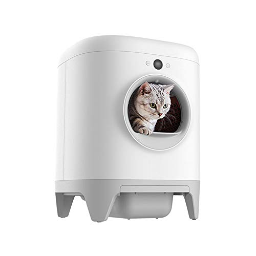CSDY-Intelligent Automatic Cat Toilet, Intelligent Cat Litter Box, Electric Excrement Shovel, Fully Enclosed Extra Large, Splash-Proof, Six-Layer Protection, Suitable for A Variety of Cat Litters