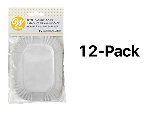 - Wilton Mini Loaf Baking Liner/Cups White 50 Pack Bread/Muffins/Cake (12-Pack)