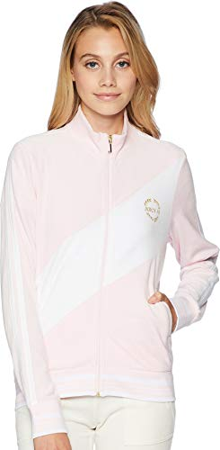 Couture Juicy Zip (Juicy Couture Black Label Women's Velour Sporty Heritage Jacket, Whisper Pink, M)