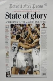 'State of Glory' 2000 Michigan State Spartans Free Press Poster Detroit City Sports
