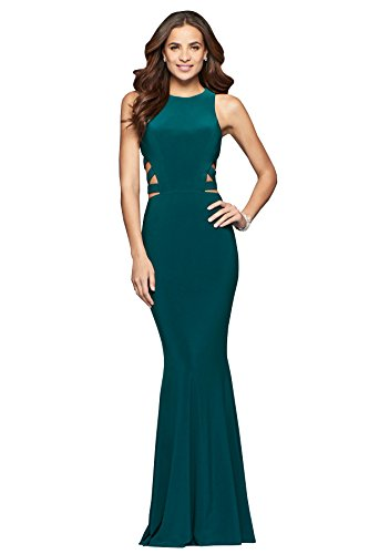 Faviana Style 8018 Forest Green, Size 8