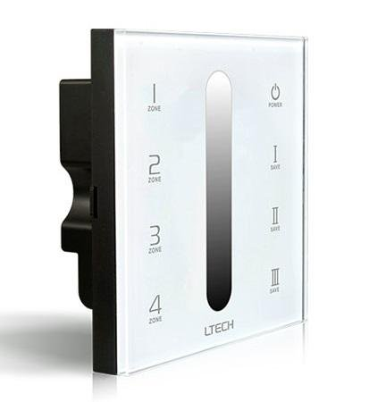 DMX Master Controller DX5 Gray scale Dimmer 4 zone wall mount dimmer AC100-240V by Wired4Signs USA
