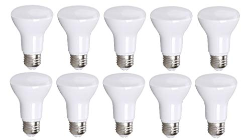 (10 Pack Bioluz LED R20 BR20 LED Bulb Dimmable 7W = 50 Watt Replacement Soft White 3000K Indoor/Outdoor Floodlight LED Bulbs Medium Base E26 UL Listed (Pack of 10))