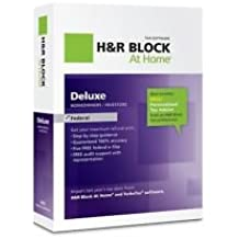 H&R Block At Home Deluxe Federal 2012