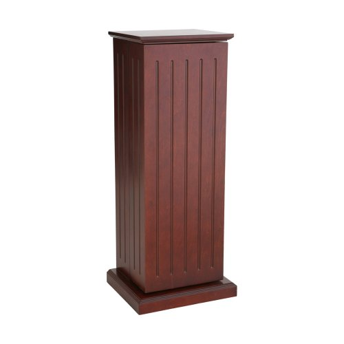 SEI Cherry Media-Storage Pedestal with 10 Adjustable Shelves (Cabinet Storage Wood Dvd)