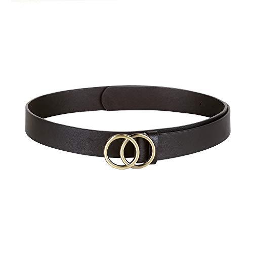 Crusset Women's Casual Belt (CH5966171, Black, Free Size)