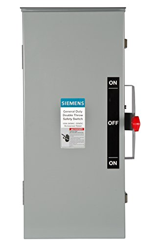 Siemens DTGNF323R 100-Amp, 3 Pole, 240-volt, 3 Wire, Non-Fused General Duty, Double Throw, Type 3R ()