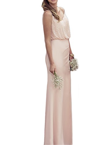 OYISHA Womens Long Elegant Chiffon Bridesmaid Dress Evening Casual Dresses BD156A Champagne 20W